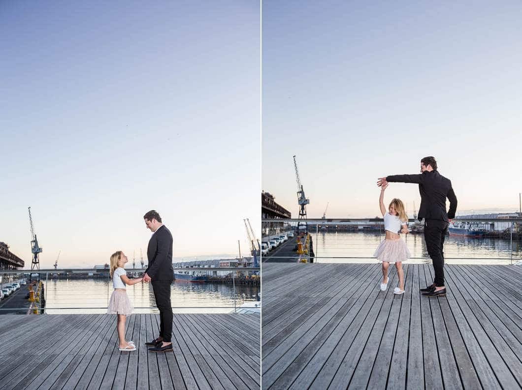 father and daughter photo shoot smart urban harbour cape town